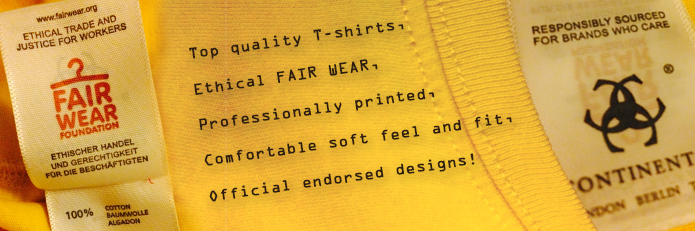 T-shirts are Fair Wear